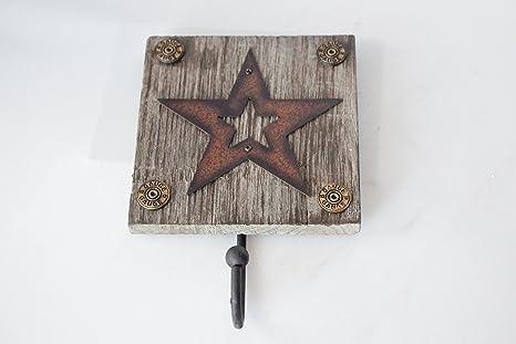 Western rústico de madera gancho de pared titular de la ...