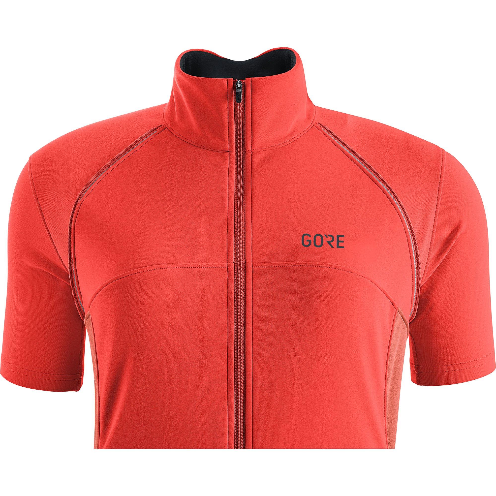 GORE Wear Women's Windproof Cycling Jacket, Removable Sleeves, GORE Wear C3 Women's GORE Wear WINDSTOPPER Phantom Zip-Off Jacket, Size: L, Color: Lumi Orange/Coral Glow, 100191 by GORE WEAR (Image #5)