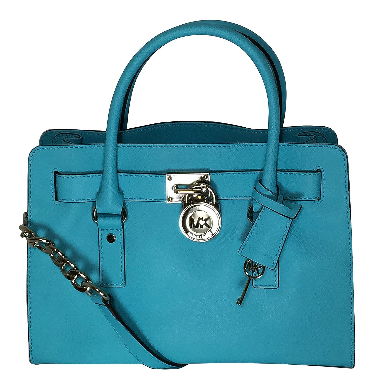 42d22cf46295 Michael Kors Hamilton East West Satchel Aquamarine: Handbags: Amazon.com