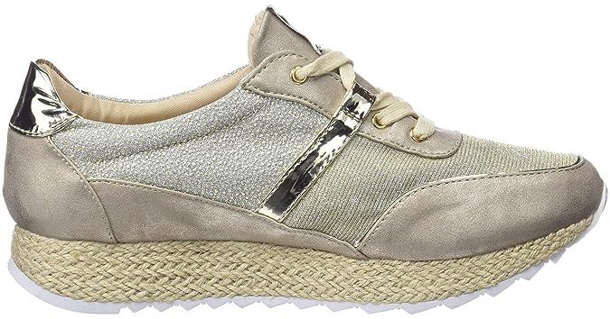 Mariamare Vandy, Sneakers Basses Femme, Argent (Bolt Beigeneon Platinodrop Champagneespejo 2 Champagne), 37 EUMaria Mare