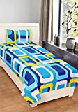 Home Elite 120 TC Cotton Single Bedsheet with 1 Pillow Cover - Multicolour