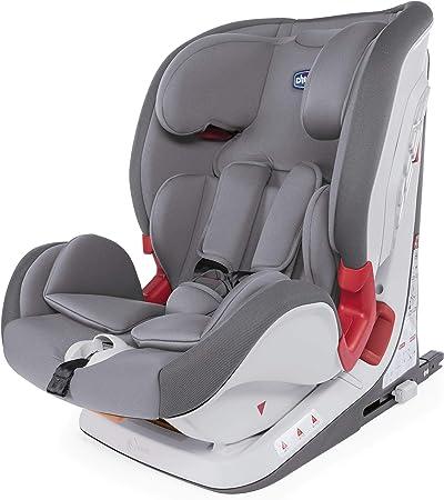 Chicco Chicco YOUniverse Fix Silla de coche isofix grupo 123 (9-36kg) con reductor, color gris (Pearl) Silla de coche grupo 1/2/3, Color Pearl