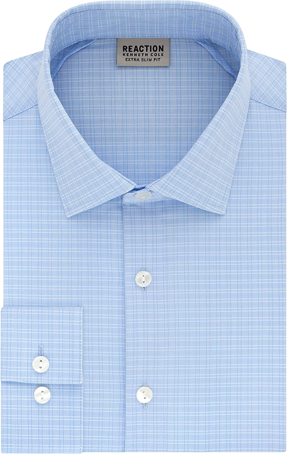 gift Kenneth Cole In stock REACTION Men's Dress Shirt Extra Slim Fit Stretch S
