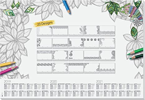 52 sheets 80gsm design weekly planner maxi SIGEL HO500 Paper Desk Pad with 3-year calendar 59.5 x 41 cm
