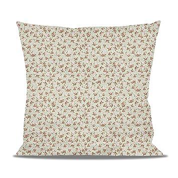 Amazon.com: Shabby Chic rosas en verde cojín de forro polar ...