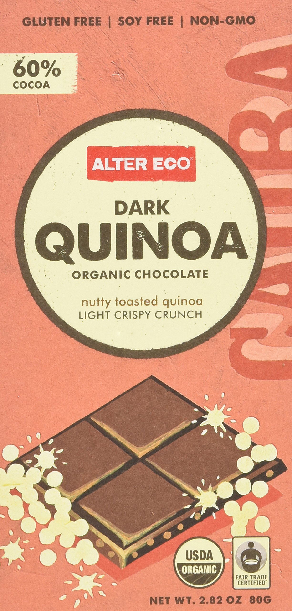 Alter Eco Organic Dark Quinoa Chocolate (pack of 12)