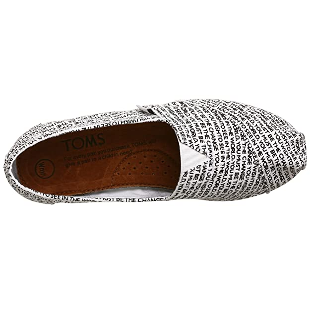 Amazon.com | TOMS Womens Canvas Gandhi Slip-on, White Gandhi, 7.5 M | Loafers & Slip-Ons