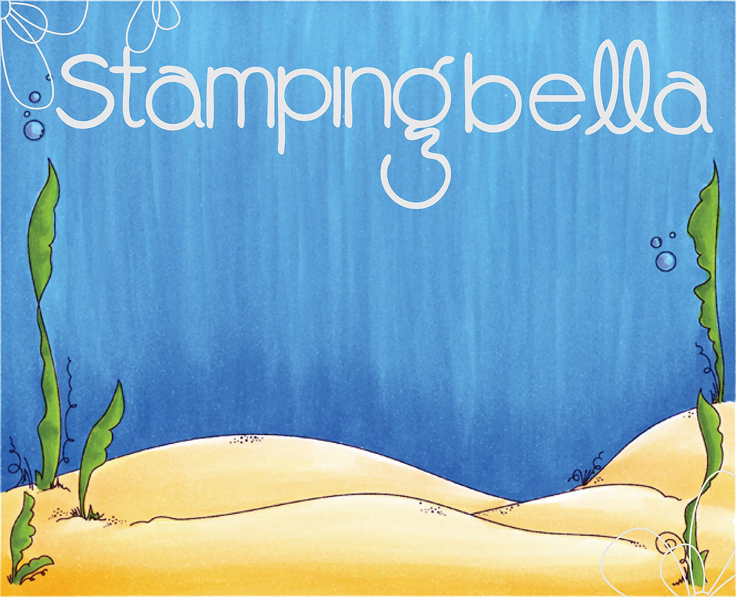 Stamping Bella EB523 Cling Stamps-Under The Sea