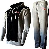 X-2 Men's Tracksuit Set Fleece Hoodie Top Bottom Joggers Gym Running Jogging
