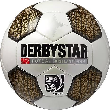 Derbystar Futsal Brillant - Balón de fútbol Sala, Color Dorado ...