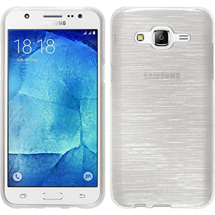 PhoneNatic Case para Samsung Galaxy J5 (2015 – J500) Funda Silicona Blanco Brushed Cover Galaxy J5 (2015 – J500) Funda + 2 Protectores