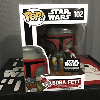 Funko POP Star Wars: Boba Fett Action Figure Exclusive Smuggler's Bounty: Toys & Games