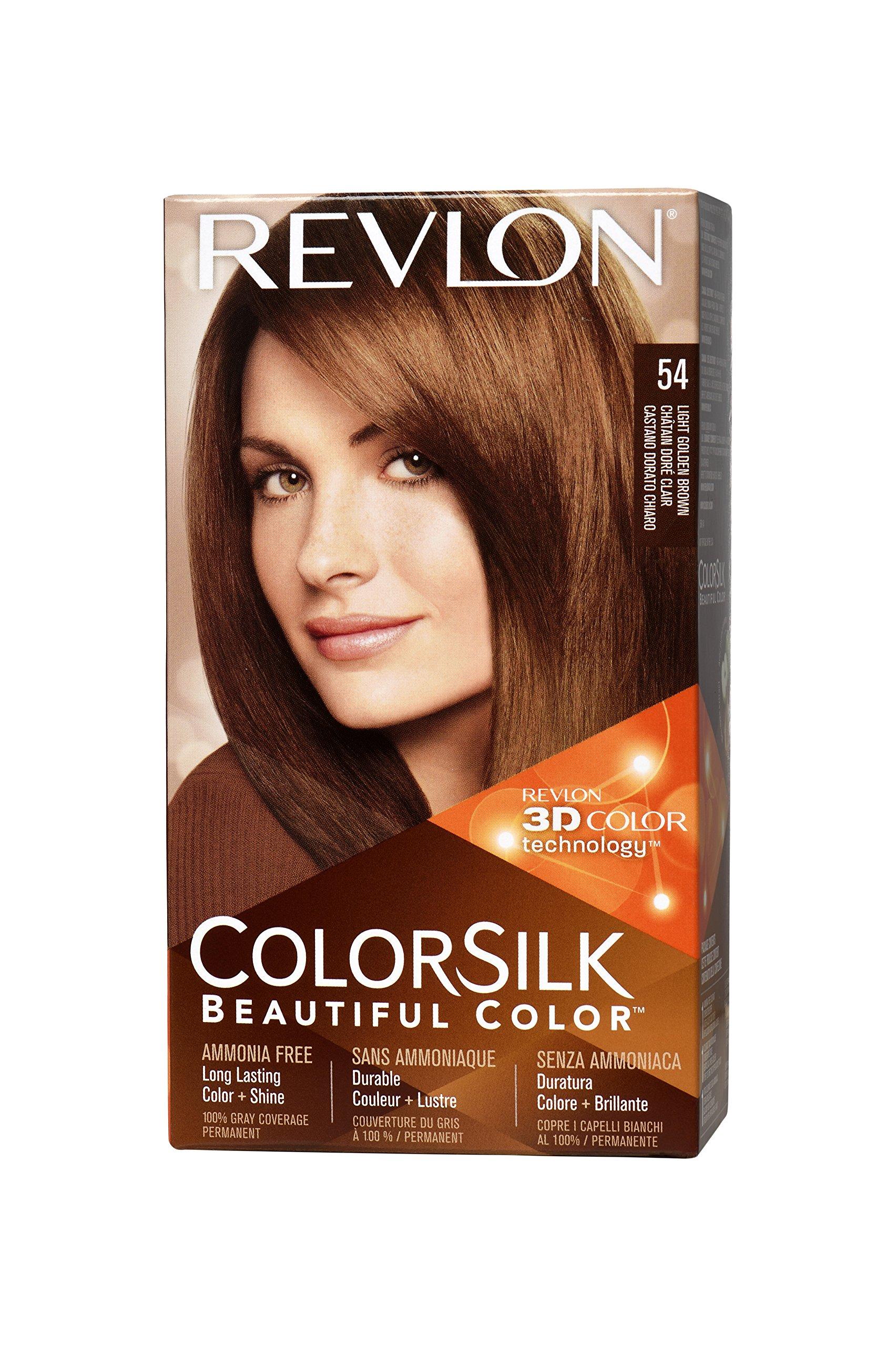 Colorsilk beautiful color 55 light reddish brown by revlon hair color - Revlon Colorsilk Haircolor Light Golden Brown Pack Of 3