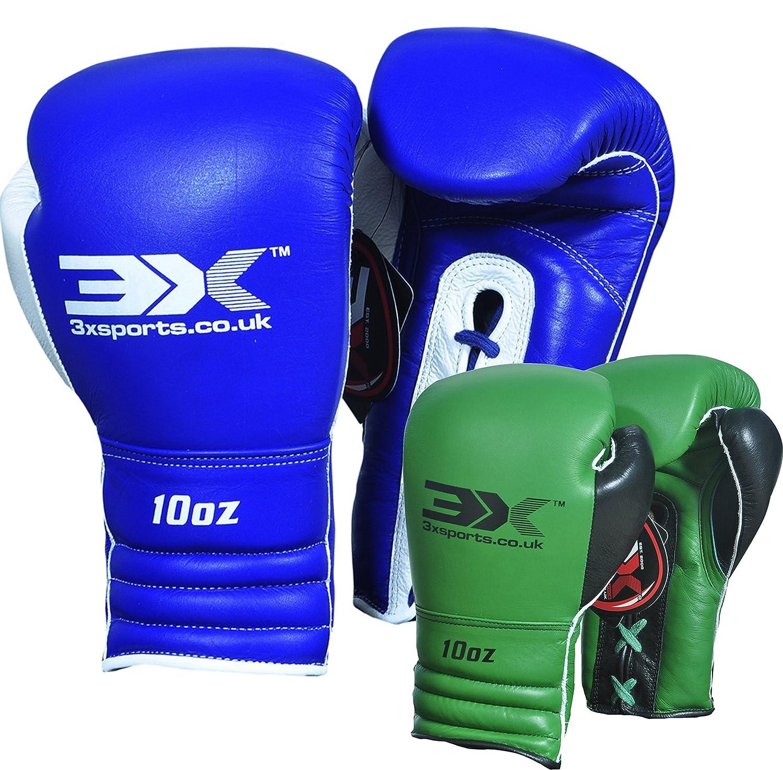 3X Sports Guantes de Boxeo Cuero de Cuero de Vaca Muay Thai Boxeo Bolsa Mitones Kickboxing Sparring UFC Artes Marciales Entrenamiento