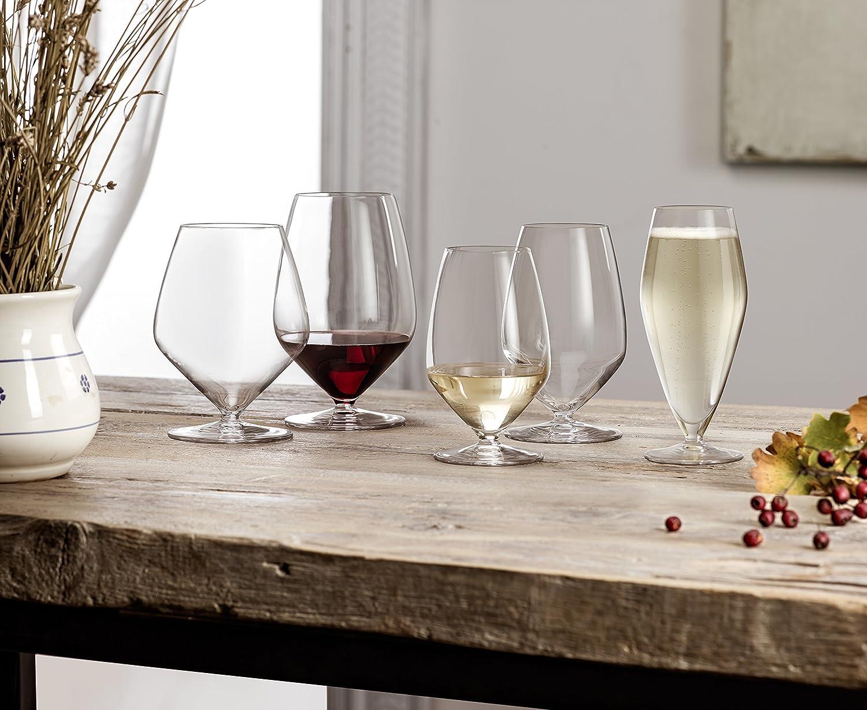 Clear Luigi Bormioli 11916//01 T 23.75 oz Cabernet//Merlot Stemless Red Wine Glasses Set of 4