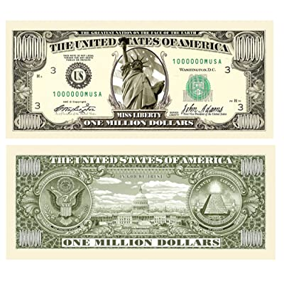 American Art Classics Pack of 10 - Traditional Million Dollar Bills: Toys & Games