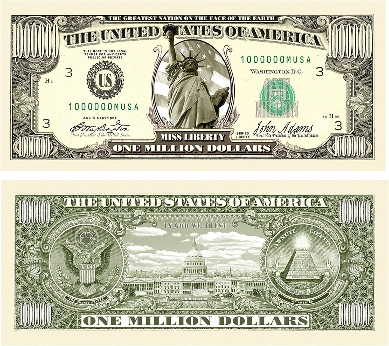 American Art Classics Pack of 10 - Traditional Million Dollar Bills