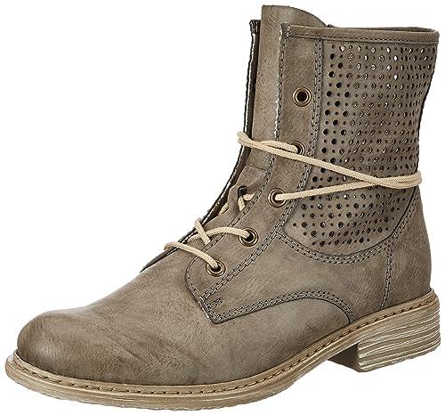 Rieker Z2125, Damen Halbschaft Stiefel