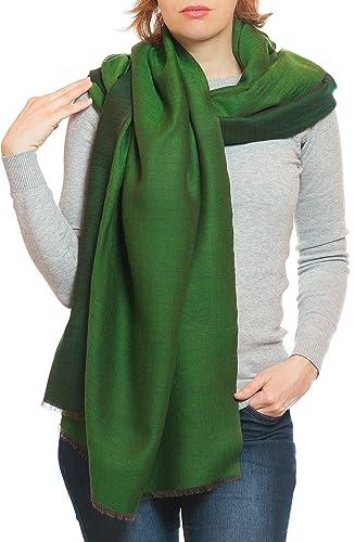 Elegante sciarpa di lana dal Punjab, India, bicolore, 190×70 cm – 100% lana