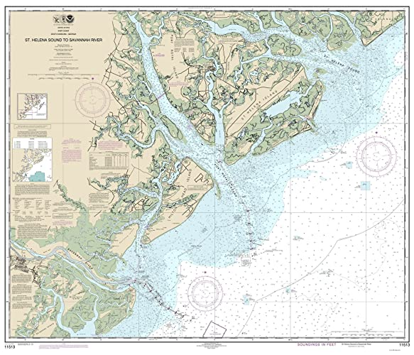 Savannah South Carolina Map.Amazon Com St Helena Sound To Savannah River 2013 Beaufort Hilton