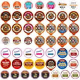 Flavored Coffee Single Serve Cups For Keurig K cup Brewers Variety Pack Sampler (Flavored, 50 Count)