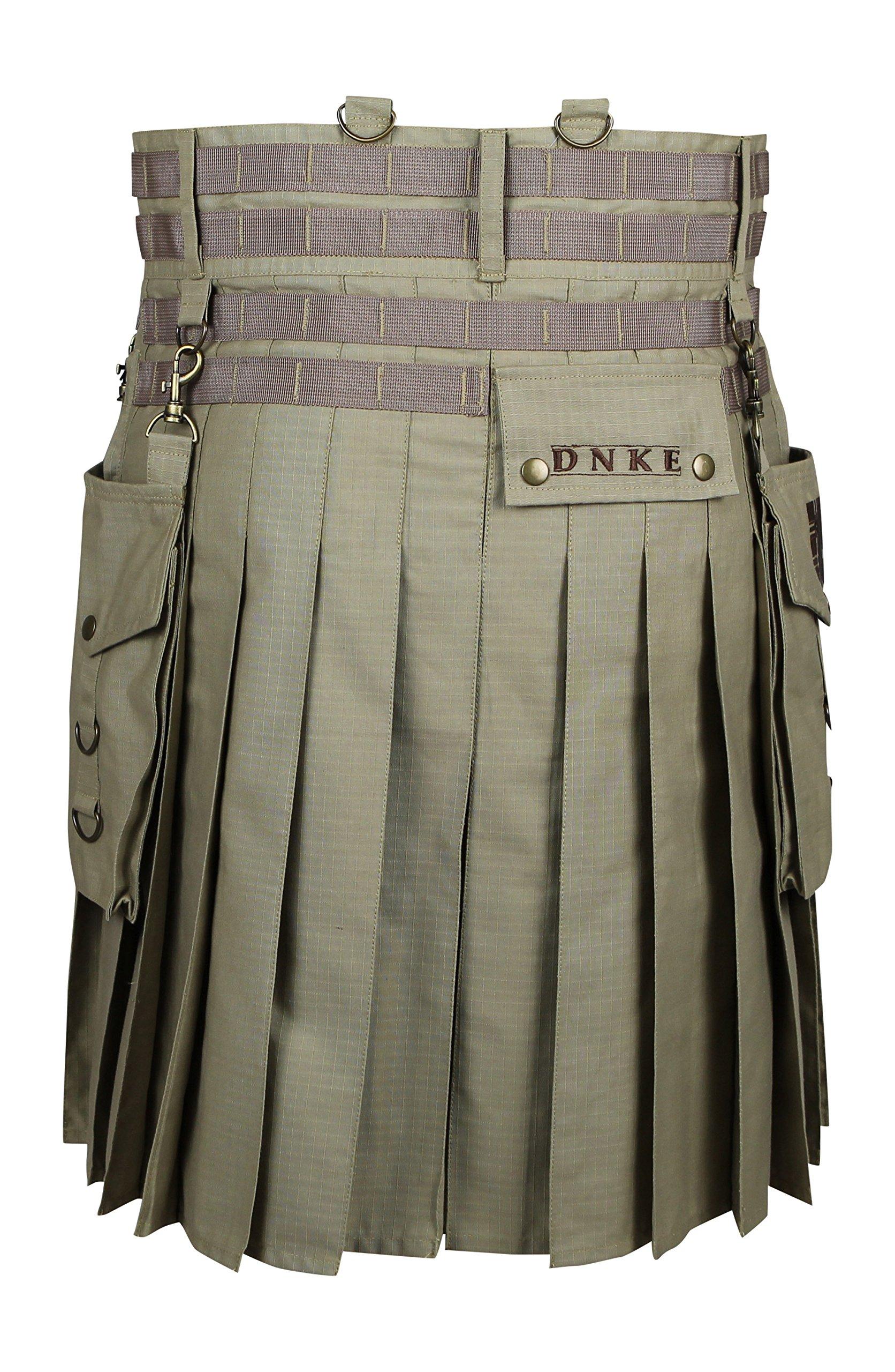 Damn Near Kilt 'Em Men's Tactical Kilt Medium-Large Khaki by Damn Near Kilt 'Em (Image #3)