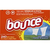 Bounce Outdoor Fresh Fabric Softener Sheets,240-Count + $10 Gift Card