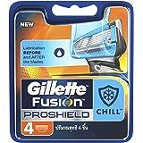 Gillette Fusion Proshield Chill Men's Razor Blade Refills, 4 Count, Mens Fusion Razors / Blades