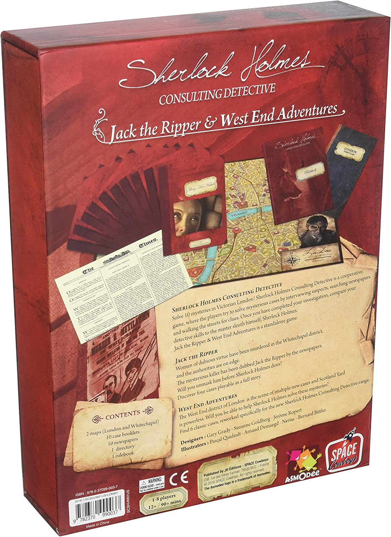 Asmodee editions Juego Sherlock Holmes Consulting Detective: Jack ...