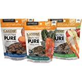 CANIDAE Grain Free PURE Chewy Treats for Dogs Training Size Variety Pack - 3 Flavors (Turkey & Apple, Rabbit & Kale, and Sweet Potato & Duck) - 6 Ounces Each