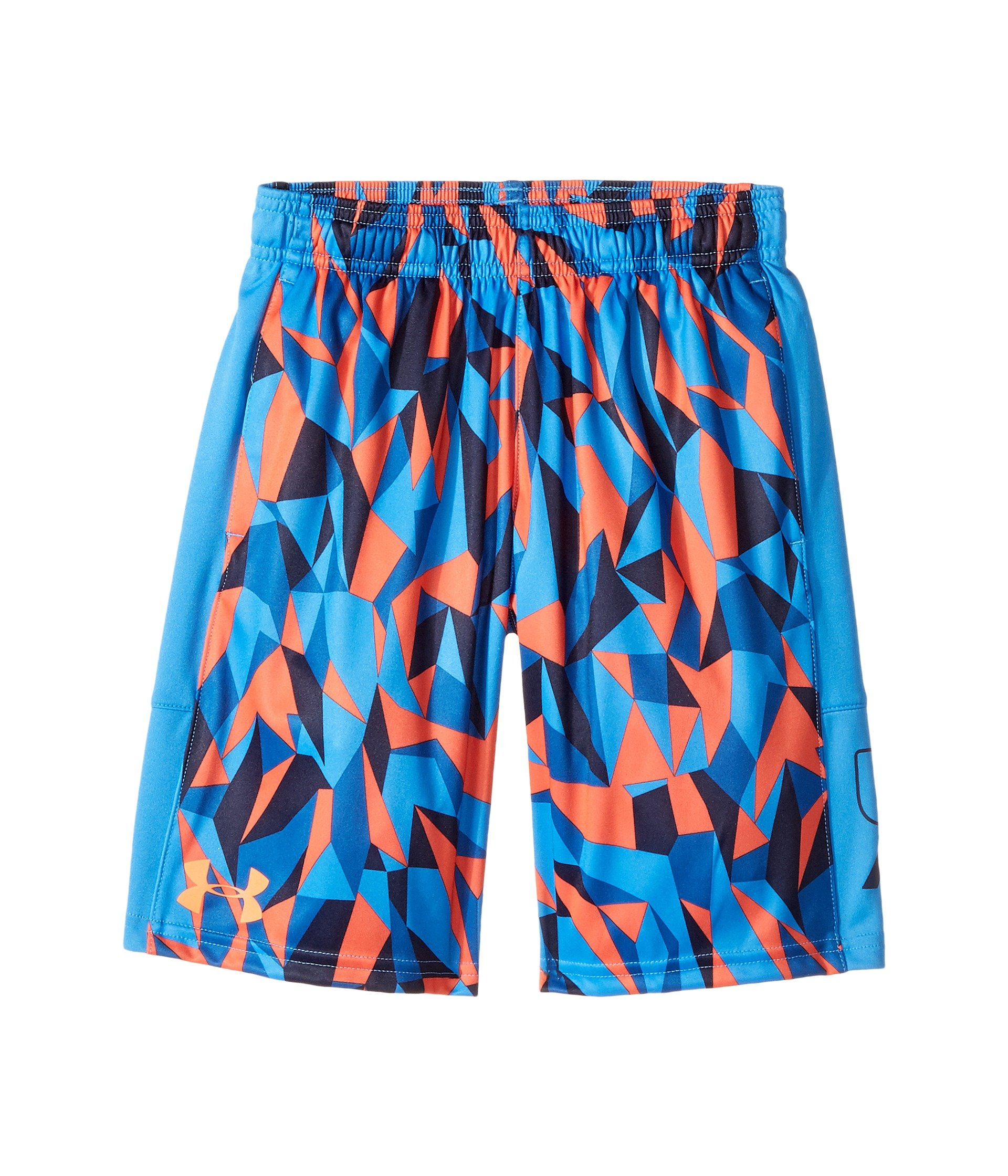 Under Armour Kids Boy's Instinct Printed Shorts (Big Kids) Mako Blue/Mako Blue/Magma Orange XS (7 Big Kids) by Under Armour