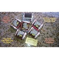 (30) de pepita SIZED-WILLY WONKA CHOCOLATE BAR envolturas y oro boletos-sin CHOCOLATE incluido