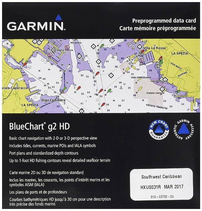 Carte Garmin Cuba.Bluechart G2 Southwest Caribbean Microsd Sd Card