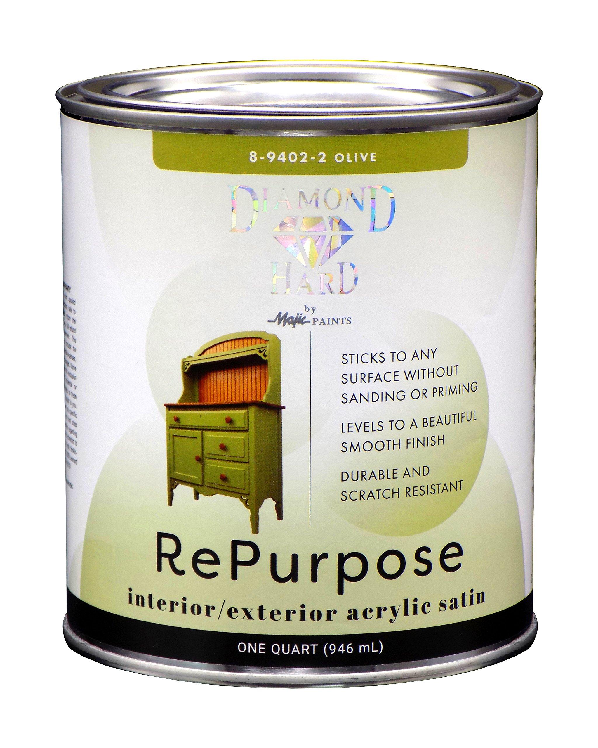 Majic Paints OB894022OB Diamond Hard Repurpose Enamel Paint, Quart, Olive