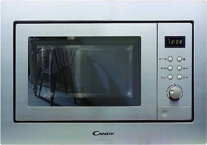 Candy MIC201EX - Microondas integrable con grill y marco, Potencia 800W-1000W, Capacidad 20L, 8 Programas, Acero Inox antihuellas: Amazon.es: Hogar