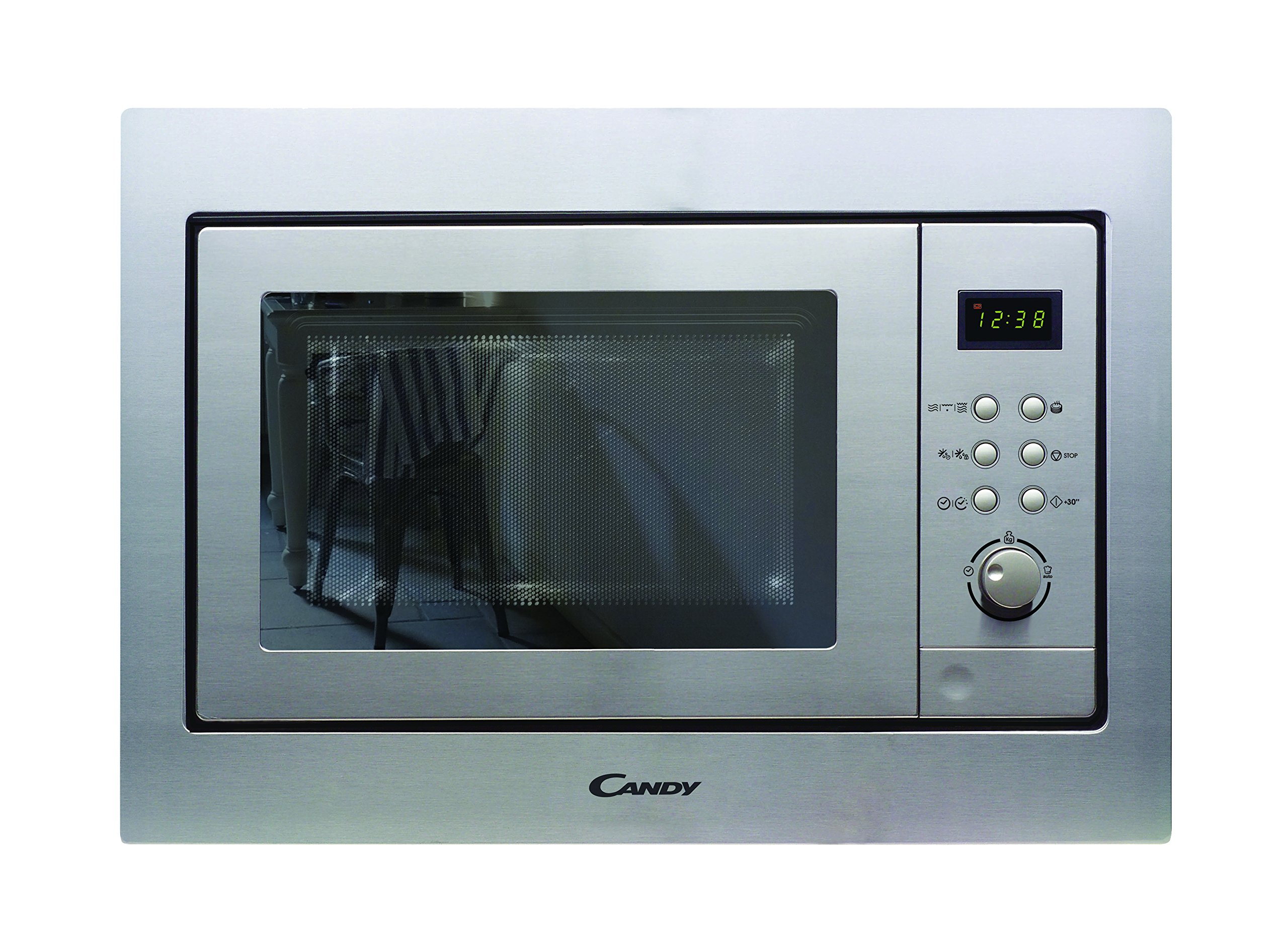 Candy MIC201EX Microondas de encastre con grill, Potencia 800W-1000W, Capacidad 20L, 8 Programas, Color gris product image