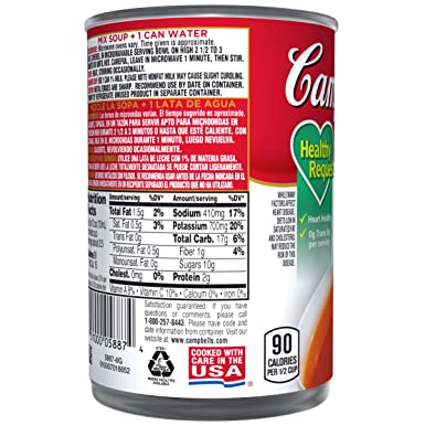 Campbells Condensed Healthy Request Tomato Soup, 10.75 oz. Can (Pack of 12)