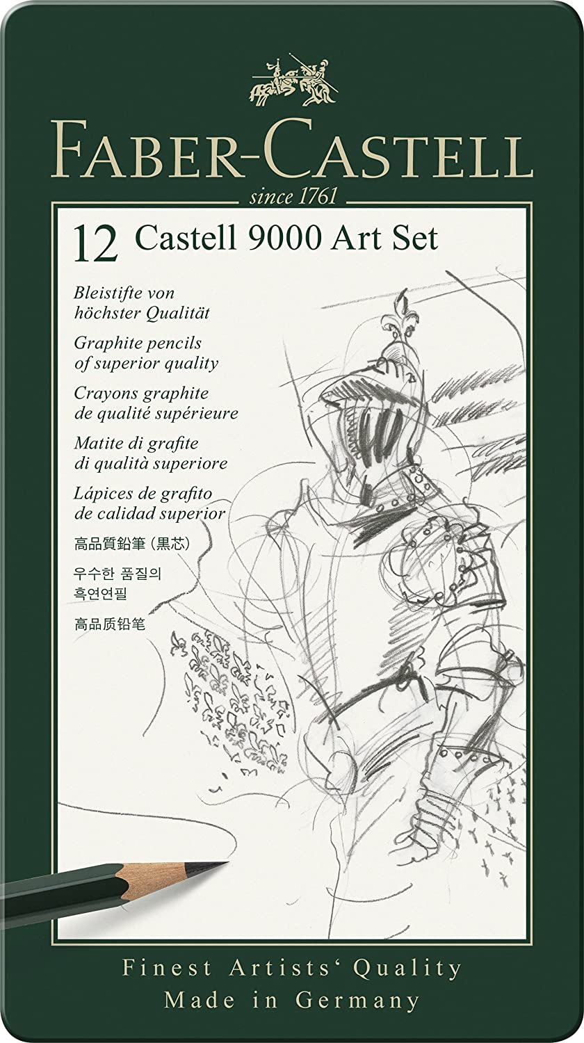 Faber Castell 9000 Art Set 12 X Pencils by Amazon