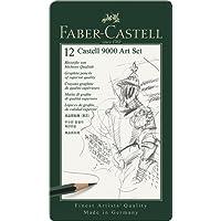 """Faber-Castell 119065 Set""""Art"""" de 12 crayons graphite CASTELL 9000"""
