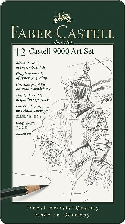 Faber Castell 9000 Graphite Sketch Pencil Sets Art 8B