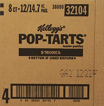 Amazon.com: Pop-Tarts, Frosted S'mores, 8-Count Tarts, 14.7 ounces (Pack of  12): Toaster Pastries