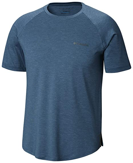 Columbia Men's Tech Trail Ii Short Sleeve Crew Shirt, Upf 50 Protection, Moisture Wicking Fabric by Columbia