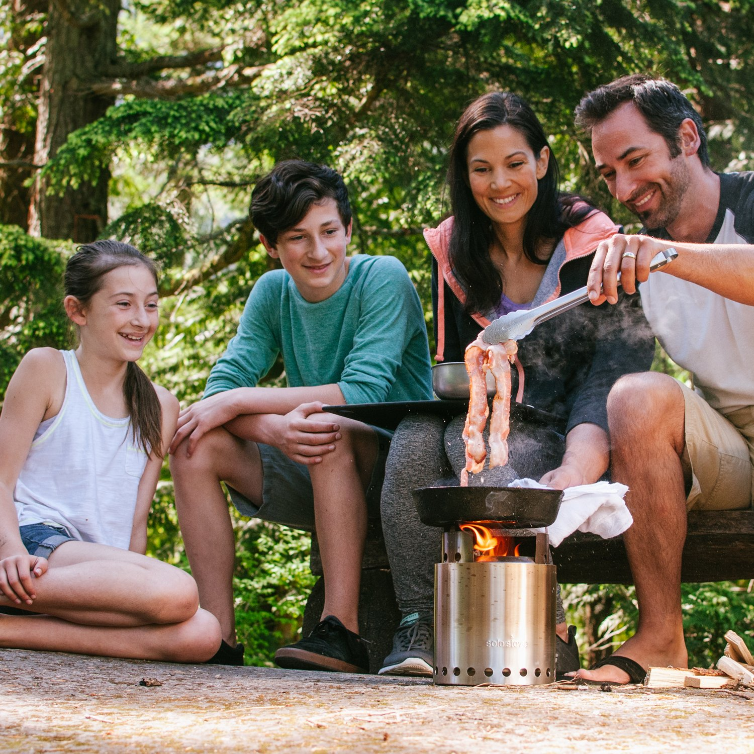 Solo Stove Campfire - 4+ Person Compact Wood Burning Camp Stove for Backpacking, Camping, Survival. Burns Twigs - NO Batteries or Liquid Fuel Gas Canister Required. by Solo Stove (Image #8)