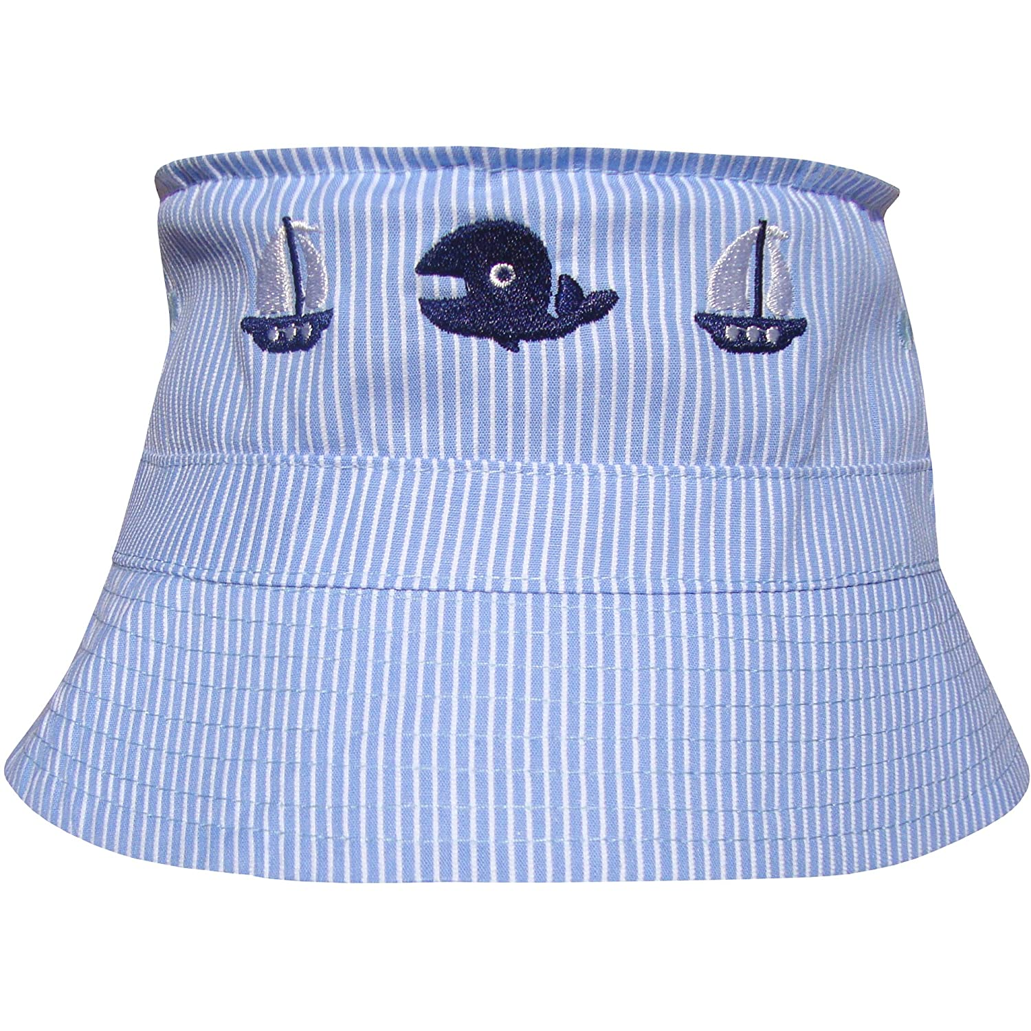 Baby Boys Blue Crabs /& Robots Bucket Style Summer Sun Hat