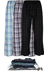 Andrew Scott Men's 3 Pack Super Soft Woven Pajama & Sleep Long Lounge Pants