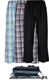 Andrew Scott Men's 3 Pack Super Soft Woven Pajama & Sleep Long Lounge Pants