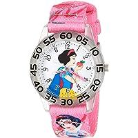 DISNEY Girls' Snow White Analog-Quartz Watch with Nylon Strap, Pink, 16 (Model: WDS000128)