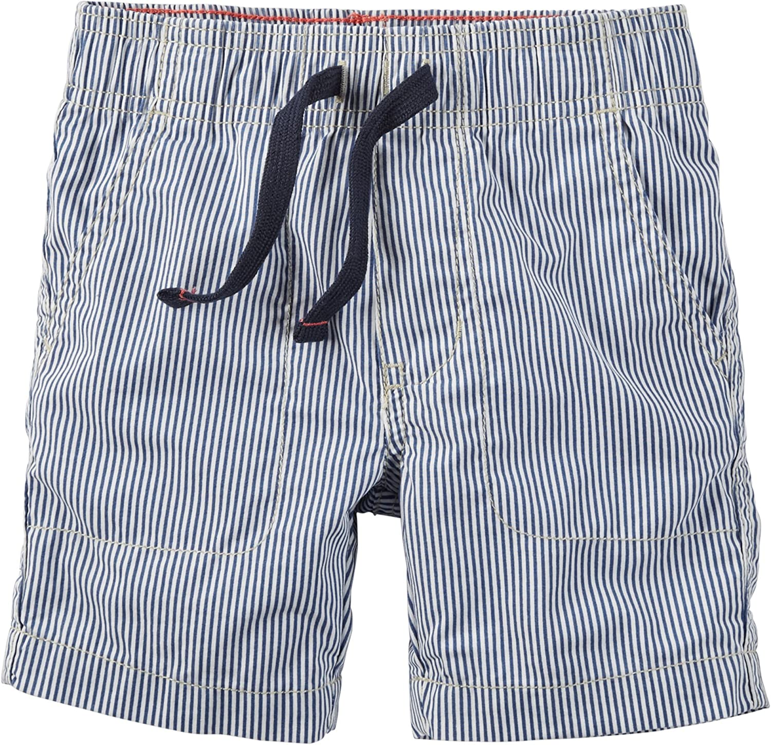Carters Baby Boys Blue Stripe Pull On Shorts 3 Months