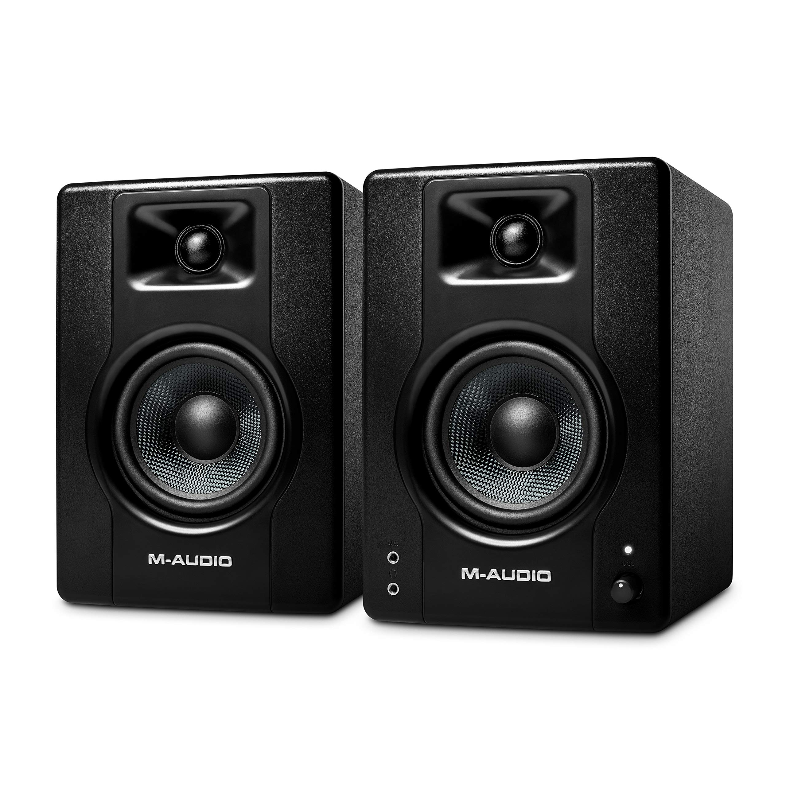M-Audio BX4 - 120-Watt Powered Desktop Computer Speakers / Studio Monitors for Gaming, Music Production, Live Streaming and Podcasting (Pair)