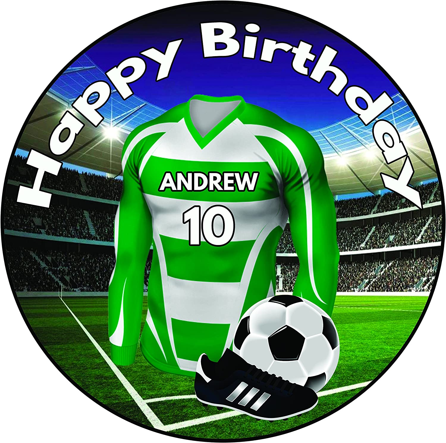 Football Sport Shirt Cupcake Toppers Handmade Fondant Customise to your team